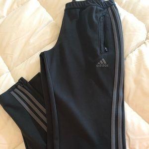 Women's Grey Adidas Track Pants.